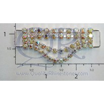 AB 2 Row Petite Drop Crystal Drape Connector