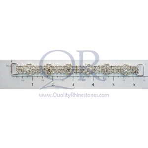 Czech Crystal Rhinestone 6 Square Chain Connector
