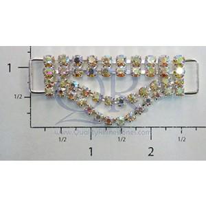 AB 2 Row Petite Drop Crystal Drape Connector