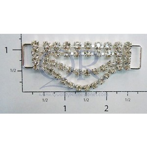 2 Row Petite Drop Crystal Drape Connector